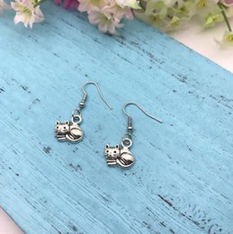 Pet Lovers Gifts Australia - Pet Cat Earrings Cat Lover Earrings Antique Silver Cat Lady Earrings Eardrop Ear Cuffs Accessories Ethnic Fashion Small Animals Jewelry Gift