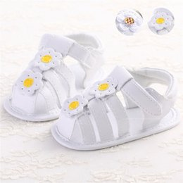 Soft Soled Shoes Australia - Summer Baby Girl Shoes Toddler Newborn Baby Girls Solid Flower Sandals Soft Sole Anti-slip Shoes Baby Girls Sandals M8Y16