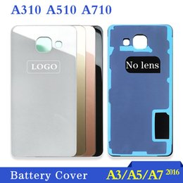 Housing Australia - A3 A5 A7 2016 Back Glass Cover Replacement part For Samsung Galaxy A310 A510 A5100 A710 Battery Housing Door
