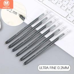 Gel ink pen refill online shopping - Andstal mm Ultra Fine financial needle Gel Pen black ink refill Finance gelpen for school office supplies ink pens