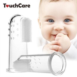 Baby Silicone Toothbrush Australia - ilicone finger toothbrush Baby Kids Silicone Finger Toothbrush Gum Brush Infant Deciduous Tooth Brush With Clear Massage Escova De Dente ...