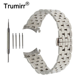 22mm curved end stainless steel online shopping - 18mm mm mm mm Stainless Steel Watch Band Curved End Strap Tool For Orient Watchband Butterfly Buckle Wrist Belt Bracelet T190620