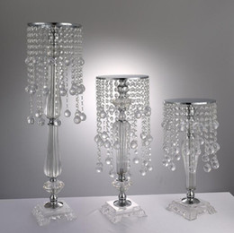 $enCountryForm.capitalKeyWord Australia - S size Acrylic Crystal Wedding Flower Holder Crystal flower ware Table Centerpiece Vase Stand 43cm high Wedding Decoration