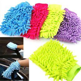 $enCountryForm.capitalKeyWord Australia - 8 colors Microfiber Snow Neil fiber high density car wash mitt car wash gloves towel cleaning gloves 1pc MMA2087