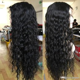 wave nets Australia - Front Hair Wigs For Black Women Natural Wave Remy Peruvian Hair With Baby Hair Pre Plucked Full End Slove Rosa+wig net knhj21