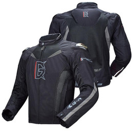 neck armor Australia - Ghost Racing Motorcycle Jacket Motorbike Riding Jacket Windproof Full Body Protective Gear Armor Autumn Winter Moto Clothing Size M-3XL