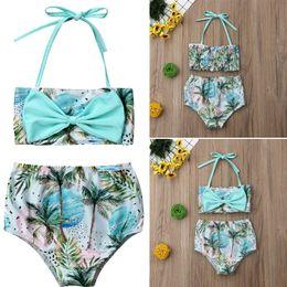 d4993e60d5 Imcute 2019 New in Fashion For Kids Baby Girl Bikini Set Swimwear Bandage  Bow Tops Shorts Pants Coconut Swimsuit Outfits Set