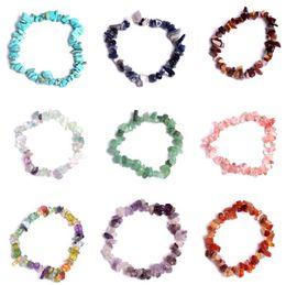 $enCountryForm.capitalKeyWord NZ - 2019 Natural Healing Crystal Sodalite Chip Gemstone 18cm Stretch Bracelet Natural Mixed Gemstone Chakra Fashion Bracelet Lover Gift