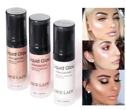 Face Glow Cream Australia - Face Highlighter Cream Liquid Illuminator Makeup Shimmer Glow Kit Make Up Facial Brighten Shine Brand Cosmetic
