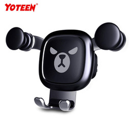 Hands Free Phone Holder Australia - Yoteen Gravity Auto-Clamping Air Vent Dashboard Car Phone Mount Holder Hands Free for iPhone X 8 8Plus 7 7Plus 6s 6P 5S