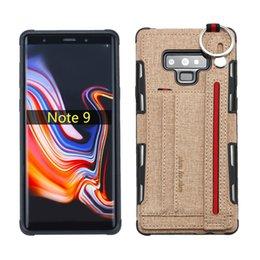 $enCountryForm.capitalKeyWord Australia - 10pcs lot Portable Ring Wrist Band Leather Phone Case Cover For Samsung Note 8 Note9 J400 M20 M30 A20 A30 A50 A70 S10 5G G530 J2