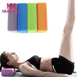 $enCountryForm.capitalKeyWord NZ - 1pc Yoga Block Workout Exercise Fitness Brick Bolster Pillow Cushion Stretching Aid Gym Eva Foam Sport Training Body Shaping C19040401