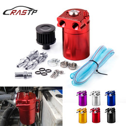 oil tank filters Canada - RASTP-Aluminum 0.3L Oil Catch Can Kit Replacement Air Oil Separator Oil Filter Tank Car Accessories RS-OCC009