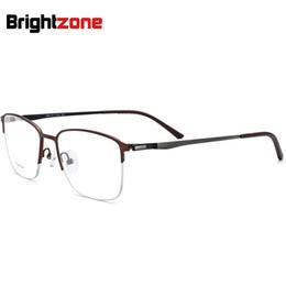 4510220988e0 Non-Screw Special Hinge Half Rim Spectacle Light Titanium Metal Man Optic  Spectacle Frame Gold Glasses Eye Glass Rims Optometria
