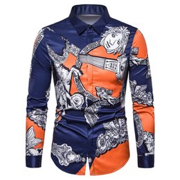 3d christmas shirts NZ - New Arrival Men Shirts Camisa Masculina Men Fashions Shirt 3d Print Long Sleeve Casual Slim Fit Christmas Shirts