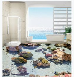 $enCountryForm.capitalKeyWord Australia - 3D custom self-adhesive waterproof photo floor mural wallpaper Underwater World Coral tropical fish marine 3D bathroom floor stickers