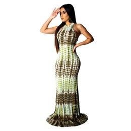 $enCountryForm.capitalKeyWord Australia - Floral Print Strapless Long Women Dresses Summer Halter Sleeveless Pencil Dress Hot Bodycon Dress For Female
