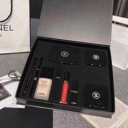 Kitchen liner online shopping - Brand Makeup Set in Eyeshadow Palette Powder Foundation ml Lipstick Lipgloss Eyebrow Eye Liner Pen Blush Mascara Gift