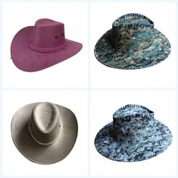 677713070022a2 Big Eaves Hats Suede Cap U.S.A West Cowboy Ultraviolet Proof Lovers Couple  Multi Color Sunshade Fashion 7 3yyf1