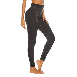 Discount new style yoga pants - 2019 Spring New Style Seamless Picking Printed Yoga Pants Queen Movement Leggings Female Cropped Pants