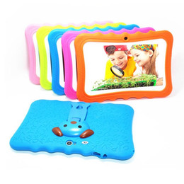 GooGle mix tablet online shopping - children tablet PC inch Quad Core children tablet Android Allwinner A33 google player wifi big speaker protective cover