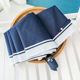 navy umbrellas Australia - Hot Sale Anti Uv Navy Superfine Straight Rod Uv Long Sunny And Rainy Umbrella For Women