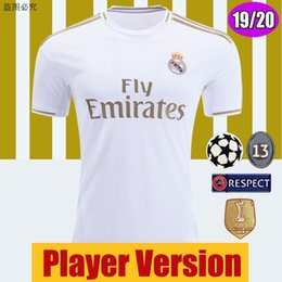 Wholesale Player Version Real Madrid Soccer Jerseys Kids Kits Home Away HAZARD camiseta de fútbol SRERGIO RAMOS MODRIC Sets Football Shirts