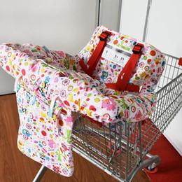 Baby Kids 2-IN-1 Couverture de panier de magasinage avec forfait téléphonique Couverture de chaise haute pour chaise haute de restaurant pour enfant en Solde