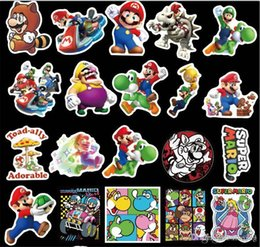 100pcs lot DIY Waterproof Stickers Mario Cartoon Stickers Super Mario series paster collection decals scrapbooking Kids Toy on Sale