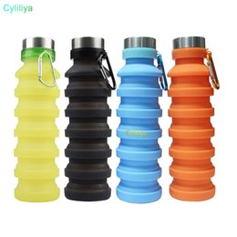 retractable water bottle Australia - 550ML Portable Silicone Folding Water Bottle Retractable Outdoor Climbing Travel Collapsible Sports Kettle