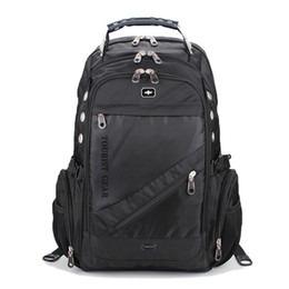 Chinese  Swiss Gear Unisex Laptop Backpack, Triple compartment Business Backpack Fits 15 inch Laptop Sale work School Free Shipping manufacturers