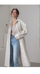 Ingrosso Coreano donna lungo risvolto dritto monopetto puro misto formato libero trench 50% cotone tre colori 3 pz / lotto drop shipping