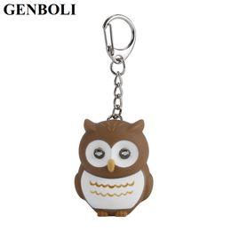 $enCountryForm.capitalKeyWord Australia - Jewelry Trinket Cute Owl Key Chains With Sound LED Lighting Keychain Bag Charm Car Pendant Key Ring Holder Whosale