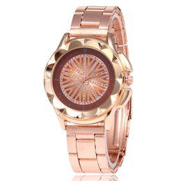 $enCountryForm.capitalKeyWord Australia - Fashion Wristwatches Steel Band Diamond Insert Ladys Watch Foreign Trade Geometric Pattern Quartz Ladys Watch 2019 New Arrival