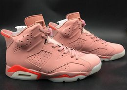 special basketball NZ - New Jumpman 6 Millennial Pink Mens Retro Basketball Shoes Aleali May Special Edition VI Fashion Baby Kids Sports Sneakers Best Quality=