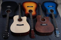 Wholesale 41 inch acoustic guitar beginner students get started self learning guitar male and female practicing piano instruments