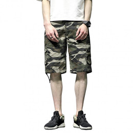 $enCountryForm.capitalKeyWord Australia - Multi-Pockets Camouflage Cargo Shorts For Men Big and Tall Size 40 42 44 Casual Summer Camo Shorts Bermuda Men