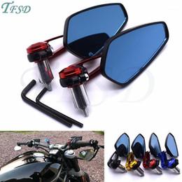 "Motorcycle rearview mirror accessories aluminum alloy 7 8"" 22mm rod end side mirror For FZ6 FAZER FZ6R FZ8 FZ1 FAZER XJ61 on Sale"