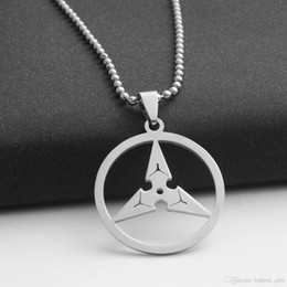Necklaces Pendants Australia - 10pcs stainless steel triangle darts pendant necklace geometric round triangle arrow necklace game watch pioneer darts necklace jewelry