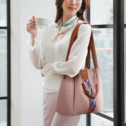 leather bags for women wholesale NZ - 4pcs Women Bag Fashion Solid Color Handbag Luxury PU Leather Shoulder Bags Small Crossbody Bags For Women torebki damskie
