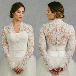 $enCountryForm.capitalKeyWord NZ - Vintage 2019 Bridal Lace Cape Long Sleeves Bridal Wrap Appliqued Jackets Wedding Capes Wraps Bolero Jacket Wedding Dress Wraps Plus Size