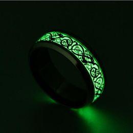 $enCountryForm.capitalKeyWord UK - 2019 New Design Stainless Steel Titanium Steel Dragon Squama Tattoo Ring with Beautiful Luminous Fluorescent Light Ring Jewlery