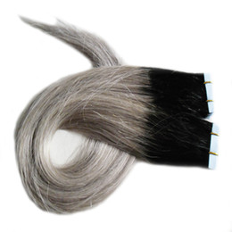 Chinese  ombre Tape In Human Hair Extensions 100g Skin Weft Remy Human Hair Extensions Adhesive 2.5g piece 40pcs Per Package manufacturers