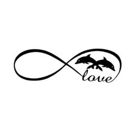 $enCountryForm.capitalKeyWord Australia - Infinity love dolphins sticker vinyl decal car window doors Cute And Interesting Fashion Sticker Decals