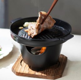 Ingrosso griglia del bbq delle famiglie solo uomo Mini stufa barbecue coreano cucina antiaderente barbecue Dish Hotel Teppanyaki 080