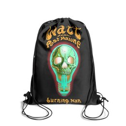 Post Cartoons Australia - Drawstring Sports Backpack post malone ft watt burning man cute convenient Yoga Pull String Backpack