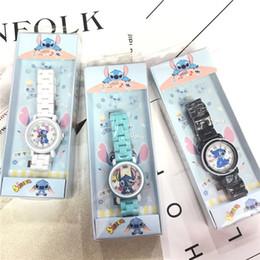 JUXU Stitch Star Детские керамические часы Stitch Анак Махасисва Лаки-Лаки Дан Перемпуан Картун Водонепроницаемые керамические часы