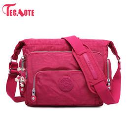 Waterproof Shoulder Travel Bag Australia - Tegaote Luxury Women Messenger Nylon Shoulder Ladies Bolsa Feminina Waterproof Travel Women's Crossbody Bag J190520