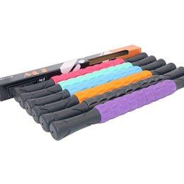 Para bienestar masajeador palillo de cuerpo completo rodillo de plástico rodillo barra del eje de fitness Yoga Relajación muscular profundo masaje palo LJJZ709-1 en venta