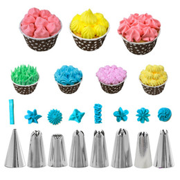 cake decor nozzles Australia - 14 6pcs Stainless Steel Icing Piping Nozzles Pastry Bag Pastry Bakeware Baking Tools Fancy Cake Mold Cake Decor Tools